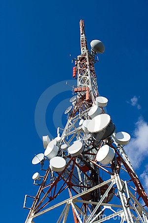 Free Antenna Drums On Mobile Phone Mast Royalty Free Stock Images - 11259069