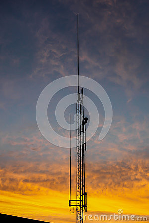 Antenna with sunset colors
