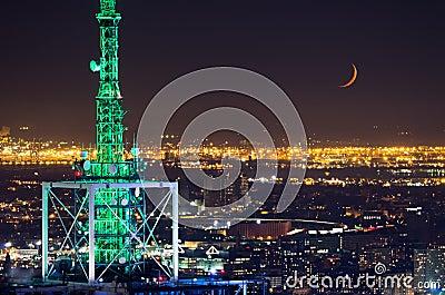 Antenna tower and skyline