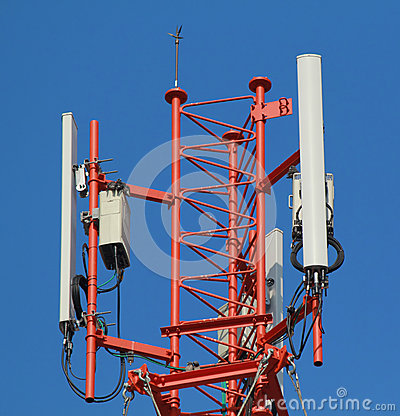 Free Antennas Of Cellular Base Station Systems Royalty Free Stock Images - 50072349
