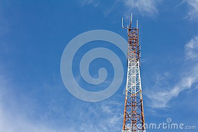 Antennas transmit and receive signals.