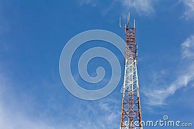 Antennas transmit and receive signals.