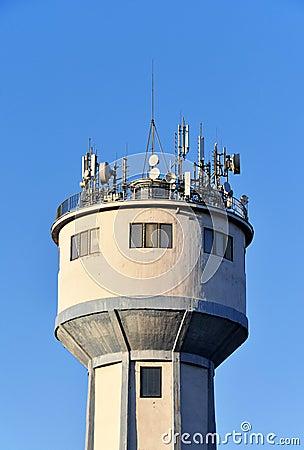 Antennas on Water Tower