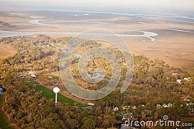 Anteny kursu golfa widok