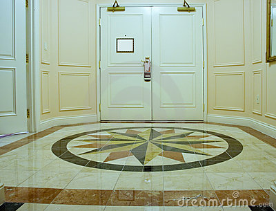 Anteroom with mosaic marble floor