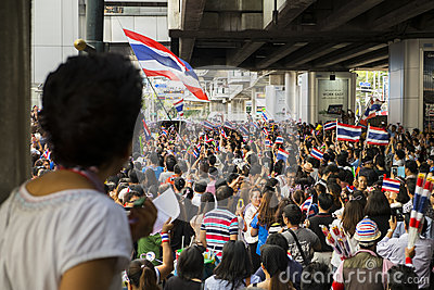 Anti-amnesty bill protest in Bangkok Editorial Image