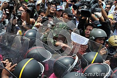 Anti-Amnesty Bill Rally in Bangkok Editorial Photo