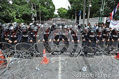 Anti-Amnesty Bill Rally in Bangkok Editorial Stock Image