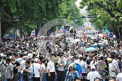 Anti-Amnesty Bill Rally in Bangkok Editorial Photography