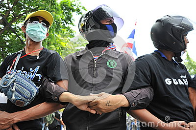 Anti-Amnesty Bill Rally in Bangkok Editorial Photography