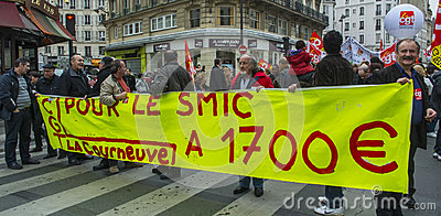 Anti-Austerity Protest, Paris Editorial Image