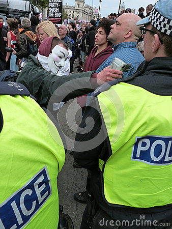 Anti-BNP Marchers Editorial Photo