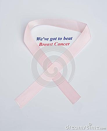 Anti-cancer logo and slogan.