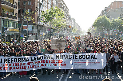 Anti capitalism demonstration on May Day 2012, Bar Editorial Stock Image