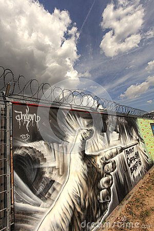 Anti Capitalism Graffiti Editorial Stock Image