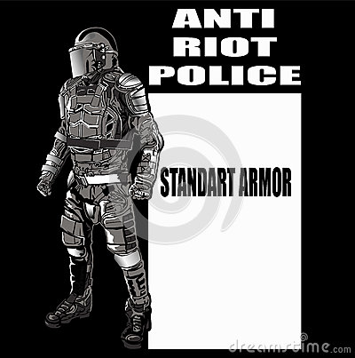 ANTI CHAOS POLICE Stock Photo