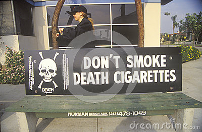 Anti-cigarette slogan Editorial Photography