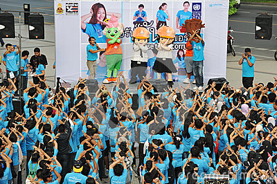 Anti-corruptie Verzameling in Bangkok Redactionele Afbeelding