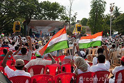 Anti corruption protest in India Editorial Photography