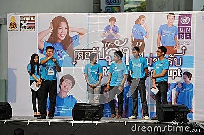 Anti-Corruption Rally in Bangkok Editorial Stock Photo