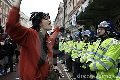 ANTI-CUTS Protest IN LONDON Editorial Photo