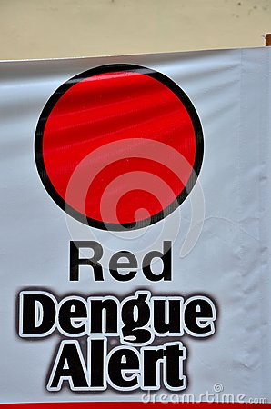 Anti dengue fever campaign poster Singapore Editorial Stock Image