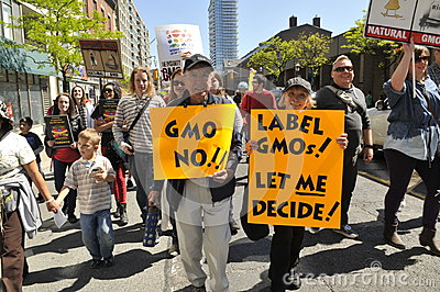 Anti GMO rally. Editorial Image