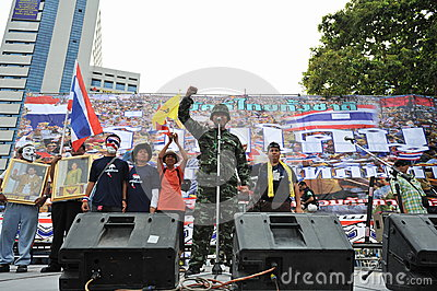 Anti-Government People s Army Group Rally in Bangkok Editorial Stock Photo