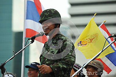 Anti-Government People s Army Group Rally in Bangkok Editorial Stock Image