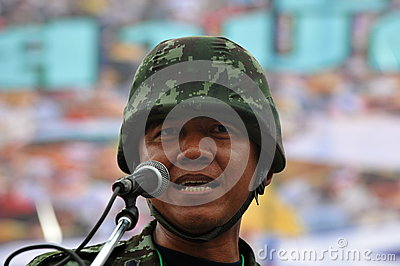 Anti-Government People s Army Group Rally in Bangkok Editorial Image