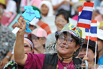 Anti-Government People s Army Group Rally in Bangkok Editorial Photography