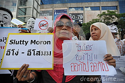 Anti-Government Protest in Bangkok Editorial Stock Image