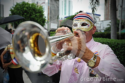 Anti-Government Protest in Bangkok Editorial Photography