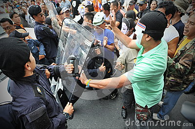 Anti-Government Protest in Bangkok Editorial Photo
