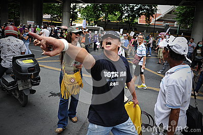 Anti-Government Protest in Bangkok Editorial Stock Photo