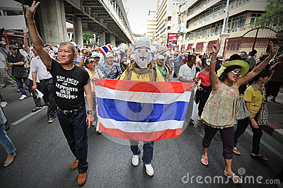 Anti-Government Protest in Bangkok Editorial Image