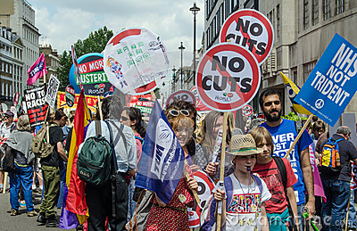 Anti-Government protest, London Editorial Stock Image