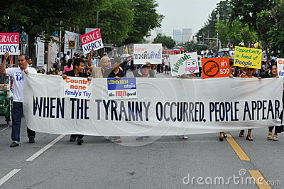 Anti-Government Protest Editorial Stock Photo