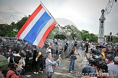 Anti-Government Rally in Bangkok Editorial Stock Image