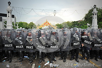 Anti-Government Rally in Bangkok Editorial Stock Image