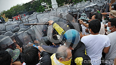 Anti-Government Rally in Bangkok Editorial Stock Photo