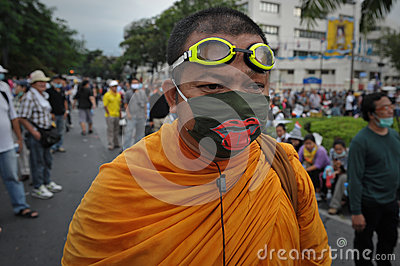 Anti-Government Rally in Bangkok Editorial Photography