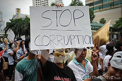 Anti-Government  White Mask  Protest in Bangkok Editorial Photo
