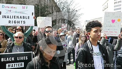 Anti Gun Protesters at the Rally in Washington DC stock video