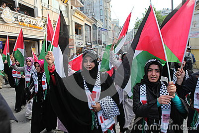 Anti Israel Demonstration Editorial Image