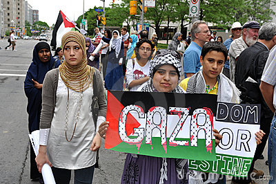 Anti-Israel rally in Ottawa Editorial Photography