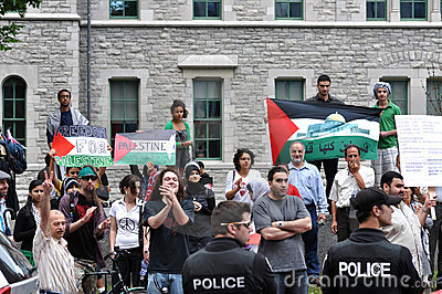 Anti-Israel rally in Ottawa Editorial Photo