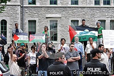 Anti-Israel rally in Ottawa Editorial Photo