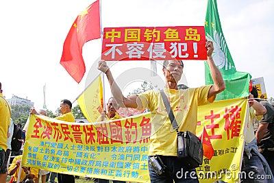 Anti Japan Protests in Hong Kong Editorial Photography