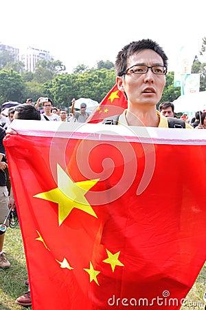 Anti Japan Protests in Hong Kong Editorial Image